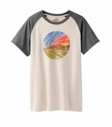 prAna Sunset Raglan organic cotton recycled polyester comfortable breathable climbing bouldering t-shirt