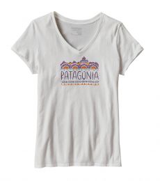 Fitz Roy Cotton V-Neck T-Shirt Women's sustainable eco friendly fairtrade